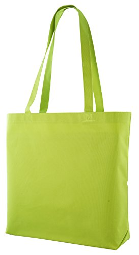 Large Shopping Tote with Shoulder Length Handles (Lime)