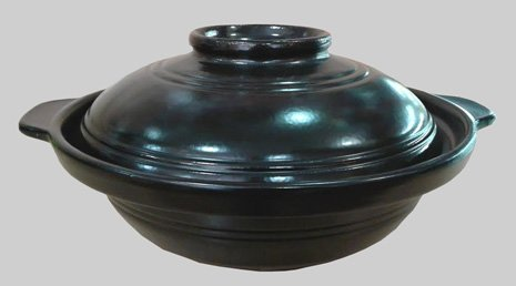 Black Casserole Clay Pot (30 oz)