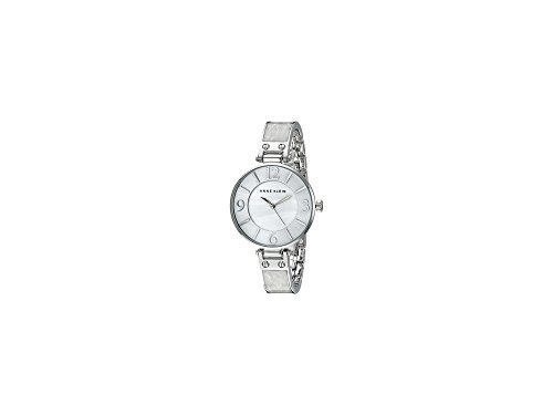 anne-klein-womens-ak-2211wtsv-silver-tone-and-white-marbleized-bangle-watch