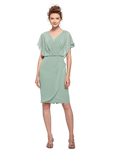- AW Mother of The Bride Dress for Wedding V-Neck Short Sleeve Formal Prom Dress for Wedding Guest Women,Sage Green,US14