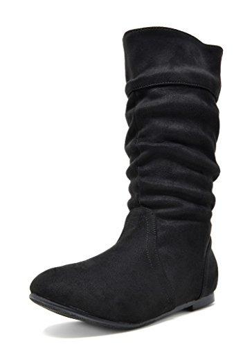BLVD-K Black Girl's Knee High Boots Size 10 M US Toddler (Dream Season Boots)