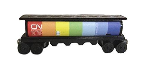 - Whittle Shortline Railroad - Manufacturer Canadian National Rainbow - Black Cylinder Hopper - Wooden Toy Train