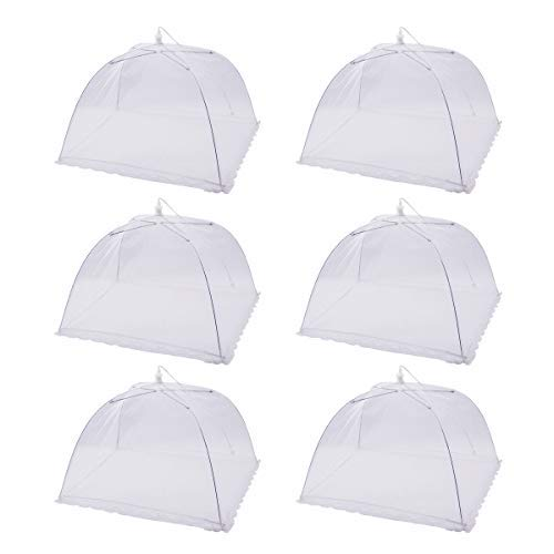 (6 Pack) Pop-Up Picnic Mesh Food Covers Tent