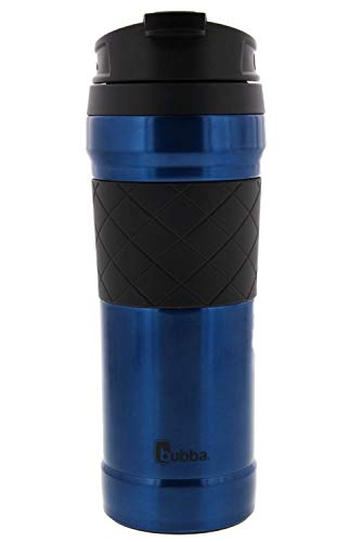 BUBBA HERO Elite - Stainless Steel Travel Mug/Tumbler, 16oz - Dual Wall Insulation Keeps Hot Drinks Hot and Cold Drinks Cold - TasteGuard Prevents Metallic Taste - 100% BPA Free - Easy Clean ()