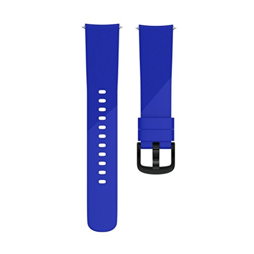 Small Large Replacement Silicone Band Strap Wristband Bracelet for Ticwatch E (Blue, Large) by Hometom (Image #3)