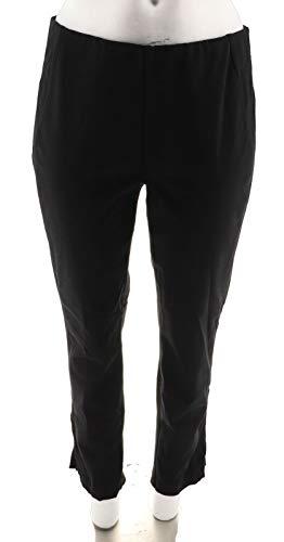 Attitudes Renee Stretch Supreme Ponte Elastic Waist Pants Black L # A279577 from Attitudes by Renee