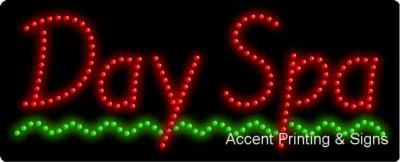Day Spa Flashing & Animated LED Sign (High Impact, Energy Efficient)