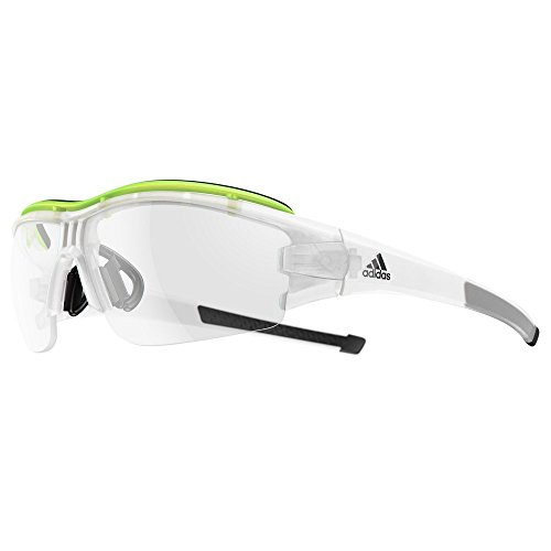 adidas Evil Eye Halfrim Pro S Sunglasses 2018 Crystal Matte/Glow Vario Antifog Clear - Gray (Adidas Evil Eye Halfrim Pro)