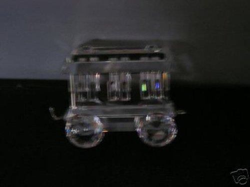 "Authentic Swarovski Crystal Figurine: ""Locomotion"" Wagon Train Car - Collectible No. 015150 (Retired) Made in Austria"