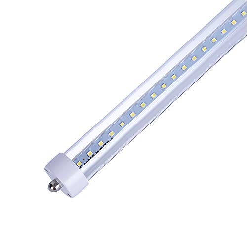 CNSUNWAY LIGHTING 8FT LED Light Tube,45W (100W Fluorescent Replacement), Ballast Bypass,5000K Daylight, Clear Cover, F96T12 LED Replacement Bulbs(1-Pack)