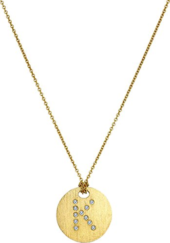 Roberto Coin Women's Tiny Treasures 18K Yellow Gold Initial K Pendant Necklace Yellow Gold One Size (Diamond 18k Roberto Necklace Coin /)