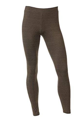 Neovic Mens Athleisure Ultra Soft Knit Yoga Pants Base Layer Casual Solid Leggings - Heather Mocha - XL