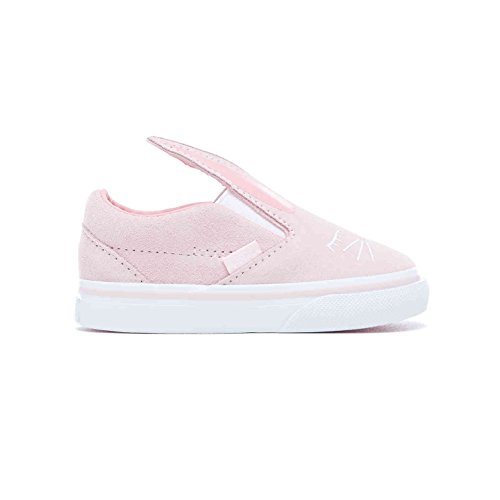 Vans Girls Bunny Slip On Skate Shoes (6.5 M US Toddler, (Bunny) Chalk Pink/True -