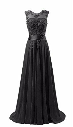 KMFORMALS Women's Long Lace Prom Evening Dresses Size 18 Black