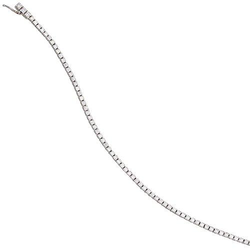 Bracelet avec brillants 83 diamants or blanc 750 17,5 cm les bracelets pour femme