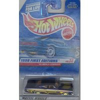 Hot Wheels 1998 FIRST EDITION 635 purple '65 IMPALA LOWRIDER 8 of 40 1:64 Scale (635 1)