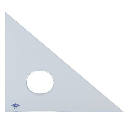 Alvin 131C-16 45-Degree/90-Degree 16'' Clear Professional Acrylic Triangle by Alvin (Image #1)