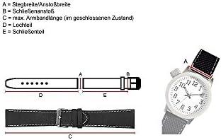 Minott Ersatzband Manufaktur Uhrenarmband Kalbsleder Kroko-Prägung Hellgrün - Kurze Länge 25715S, Stegbreite:12mm