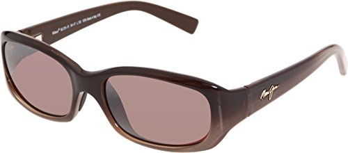 Maui Jim Punchbowl R219-01 Polarized Rectangular Sunglasses,Chocolate Fade Frame/Maui Rose Lens,One - Maui Rose Jim Maui