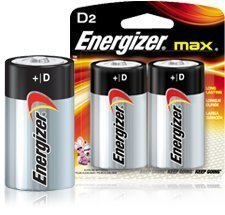 Energizer Alkaline Battery, ''D'' Size, 2/PK (Pack of 2) by Energizer