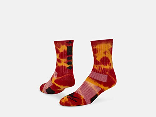 (Red Lion Maxim Crew Sock (Red/Gold - Small))