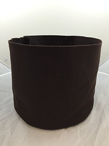 25 Pack – 3 Gallon Brown Felt Fabric Grow Bags 10'' Round X 8'' Tall - Ruth's Tree Farm by Ruth's Tree Farm