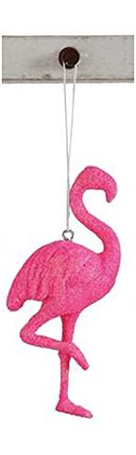 Flamingo Pink Resin Hanging Tree Ornament