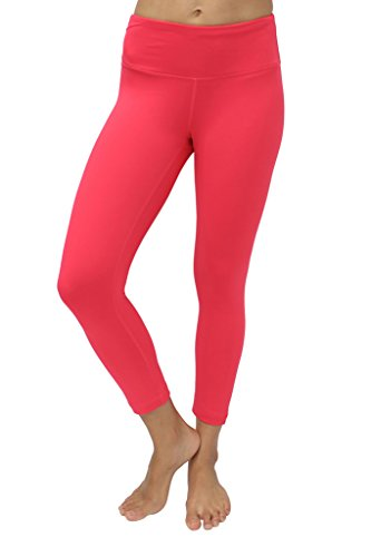 90 Degree By Reflex Yoga Capris - Yoga Capris for Women - Hidden Pocket-Cereza-XS by 90 Degree By Reflex (Image #4)