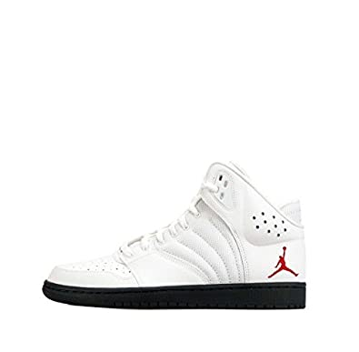 30d6ab48761 Nike Air Jordan 1 Flight 4 PREM Mens Hi Top Basketball Trainers 838818 Sneakers  Shoes (US 9, White Gym red Midnight Navy 164): Buy Online at Low Prices in  ...