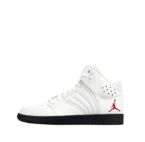 brand new 98c92 9642e Nike Air Jordan 1 Flight 4 PREM Mens Hi Top Basketball Trainers 838818 Sneakers  Shoes (US 9, White Gym red Midnight Navy 164)  Buy Online at Low Prices in  ...