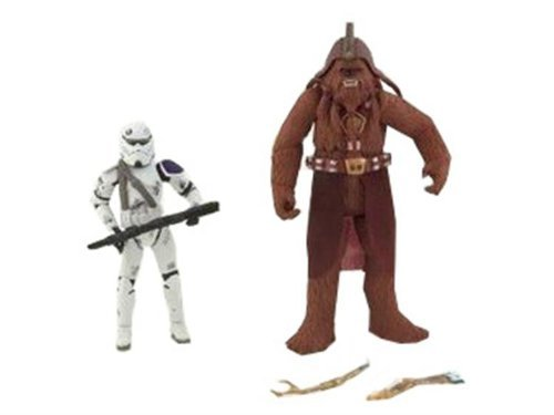 Star Wars Expanded Universe Exclusive Action Figure 2Pack Kashyyyk Trooper Wookie Trooper (Star Wars Dc 15 Blaster Rifle Toy)