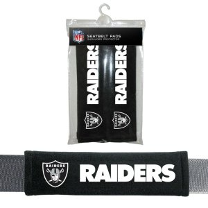 NFL Oakland Raiders Seat Belt Pad (Pack of 2)