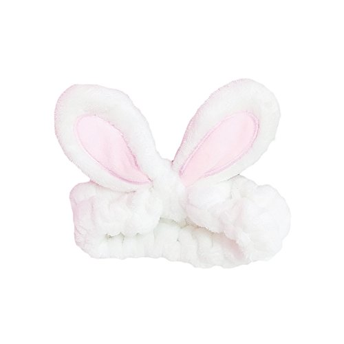 BAOBAO Cute Cartoon Rabbit Ear Headband Wired Bowknot Hair Band Head Wraps