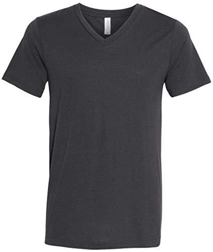 Yoga Clothing For You Mens Tri Blend V-Neck Tee Shirt (Mens XXL, Solid Dark Grey Triblend)