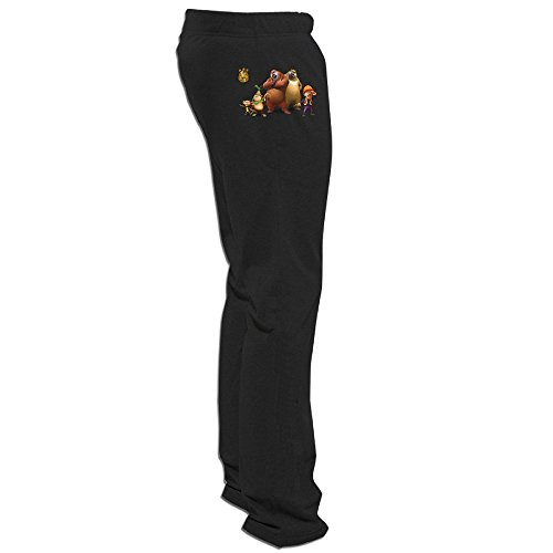 - DETED Boonie Bears Family Training Pants For Mens Black X-Large