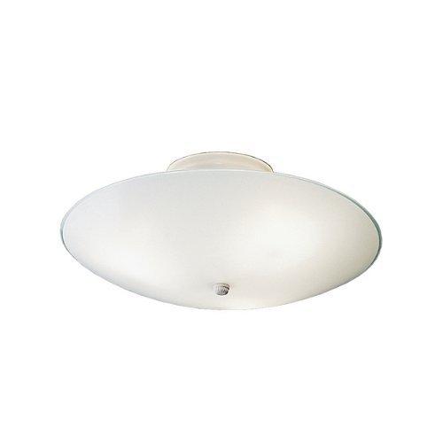 Kichler 7350WH, Ceiling Space Round Glass Semi Flush Ceiling Lighting, 3LT, 180W, White (Pack of 6)