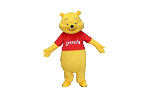 Winnie The Pooh Bear Adult Mascot Costume Cosplay Fancy Dress Outfit Yellow