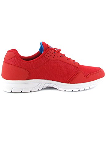 Boras - Zapatos de cordones de tela para mujer Rojo rojo
