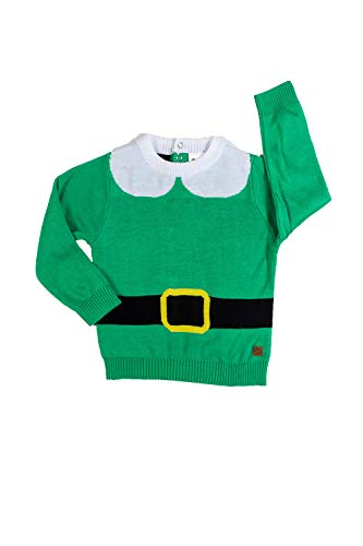 Tipsy Elves Infant Elf Ugly Christmas Sweater - Cute Christmas Sweater for Baby: S Green