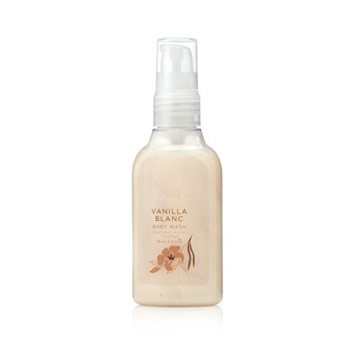 The Thymes Vanilla Body Wash (Thymes - Vanilla Blanc Petite Body Wash with Pump - Hydrating Shower Gel with Warm Madagascar Vanilla Scent - Travel Size - 2.5 oz)