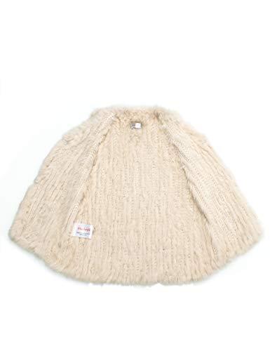 100 Lin HEIZZI tricot Lapin Gilet Fourrure de UdqFn8P6