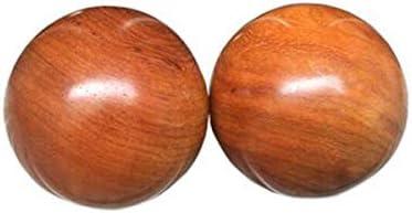 Ashy-wlj フィットネスボール、ローズウッドマホガニーフィットネスボール、ソリッドウッドフィットネスボール、フィットネスハンドボール、指圧マッサージハンドボール、エルダー誕生日ギフト45ミリメートルを送ります (サイズ : 4.5cm)