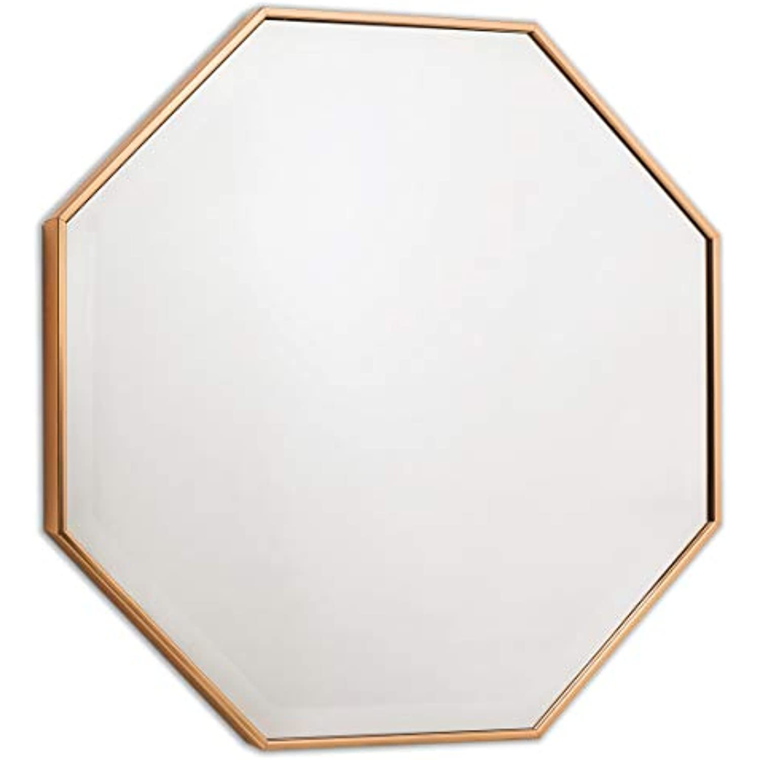 Wall Mirror - Octagon Frame for Entryway or Bathroom, Bronze Mirrors by EcoHome