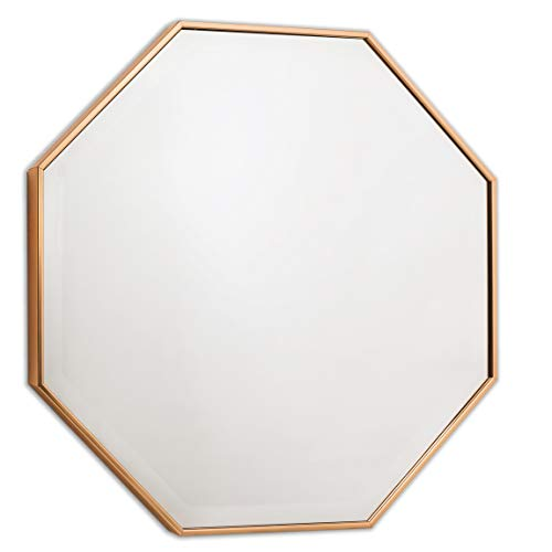 (Wall Mirror - Octagon Frame for Entryway or Bathroom, Bronze Mirrors by)