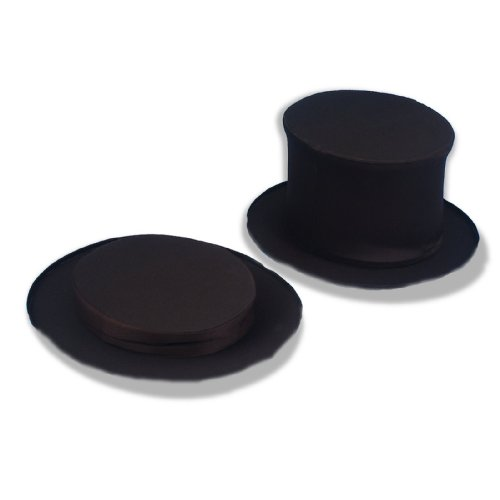 Forum Novelties Magician's Collapsible Black Top Hat, Black, X-Large