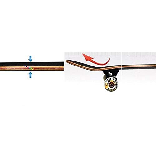 WQQOZ Importierte Board-Oberfläche Professionelle Double-Up-Skateboard-Oberfläche. Einsteiger-Skateboard für Anfänger Skateboard (Farbe (Farbe (Farbe   A) B07QBKL9S1 Skateboards Wertvolle Boutique 3d10d5