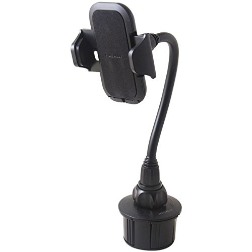 MACALLY MCup2XL Long-Neck Adjustable Automobile Cup-Holder Mount for Smartphones & Most GPS Devices by Macally