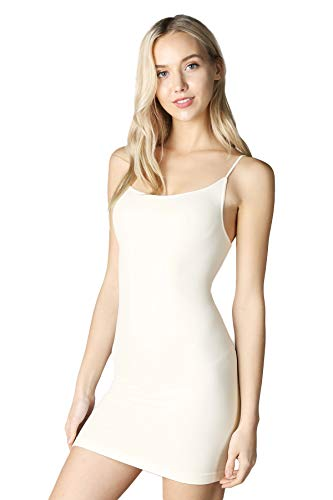 (Seamless Nylon/Spandex Long Cami in Ivory - 0/S )
