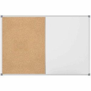 (Combiboard Maulstandard, 60 x 45 cm, Whiteboard, Pin Board, Magnetic Write-on, Aluminium Frame)