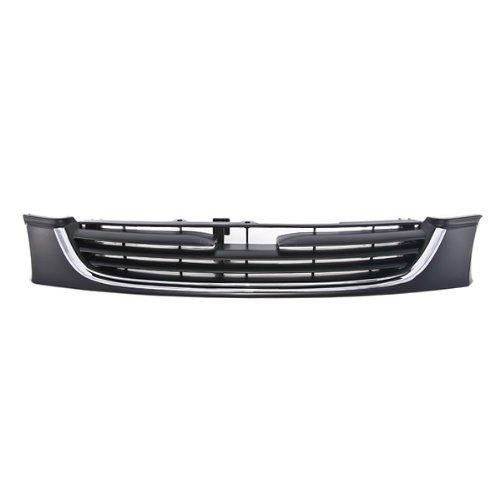 CarPartsDepot 400-311062, Grill Grille Chrome Molding Primered Black Plastic W/Clip&Fastener MA1200151 GD1E50710C00